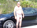 nude man danny with car