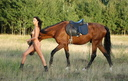 Horse riding nude modele 15