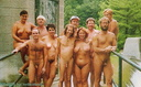 nudists group on beach MassNudity4