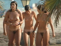 nudists group on beach group 017