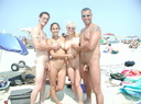 nudists group on beach nc16