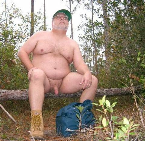 nudists and nude / nude hiking / nude in the nature woods | Nudism