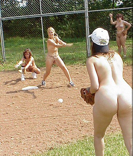 naked girls playing soft ball